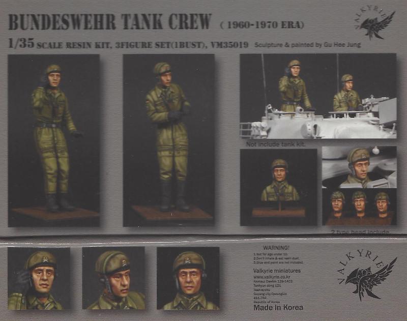 Bemalt1 Bundeswehr Tank Crew (1960-1970 Era) 1:35 Valkyrie Miniatures #VM35019