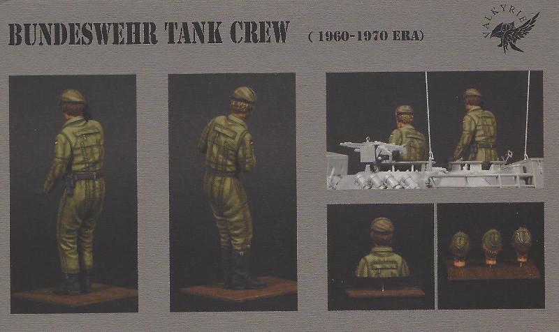 Bemalt2 Bundeswehr Tank Crew (1960-1970 Era) 1:35 Valkyrie Miniatures #VM35019