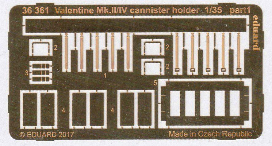 Eduard-36361-Valentine-Mk.-II-IV-Cannister-holder-2 Eduard Zubehör für den Valentine Mk. II / IV von Tamiya in 1:35