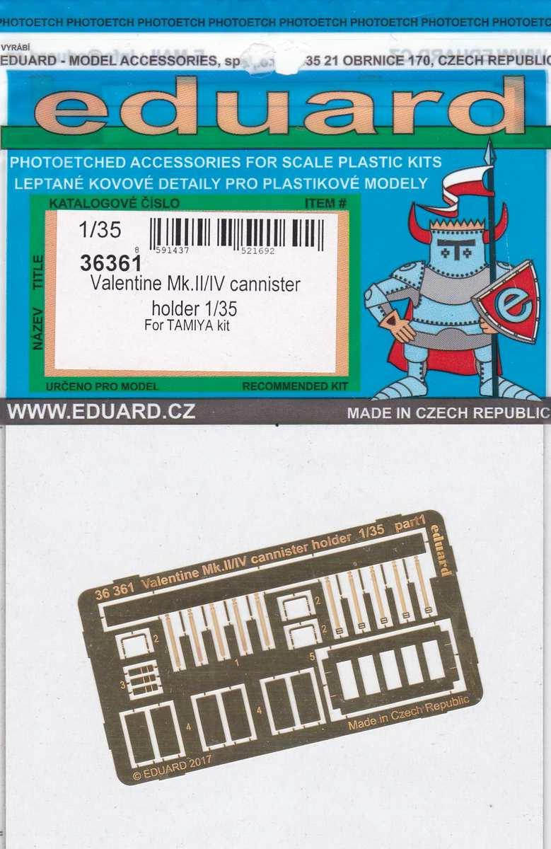 Eduard-36361-Valentine-Mk.-II-IV-Cannister-holder-3 Eduard Zubehör für den Valentine Mk. II / IV von Tamiya in 1:35