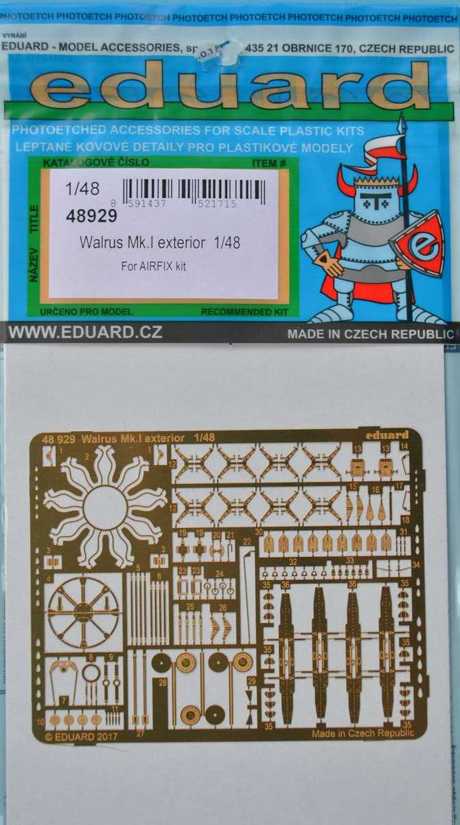Eduard-48929-Walrus-Mk.-I-Exterior-1 Eduard-Zubehör für die neue 48er Walrus von Airfix