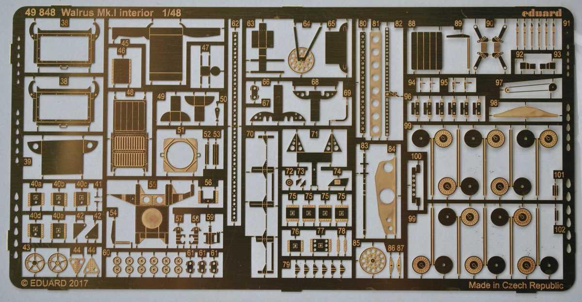 Eduard-49848-Walrus-Mk.-I-Interior-1 Eduard-Zubehör für die neue 48er Walrus von Airfix