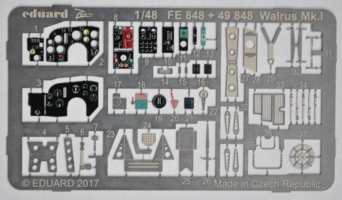 Eduard-49848-Walrus-Mk.-I-Interior-2 Eduard-Zubehör für die neue 48er Walrus von Airfix