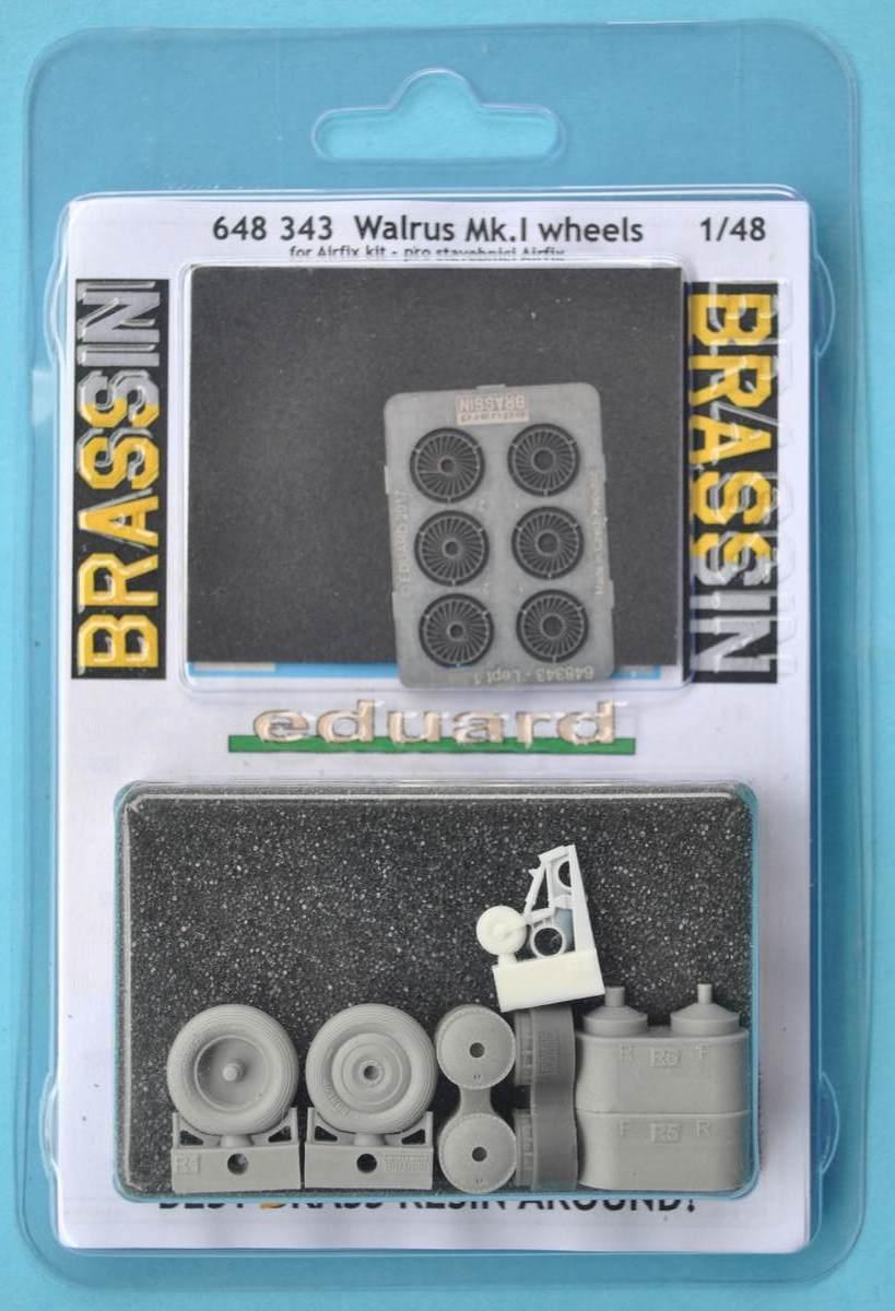 Eduard-648343-Walrus-Mk.-I-Wheels-2 Eduard-Zubehör für die neue 48er Walrus von Airfix