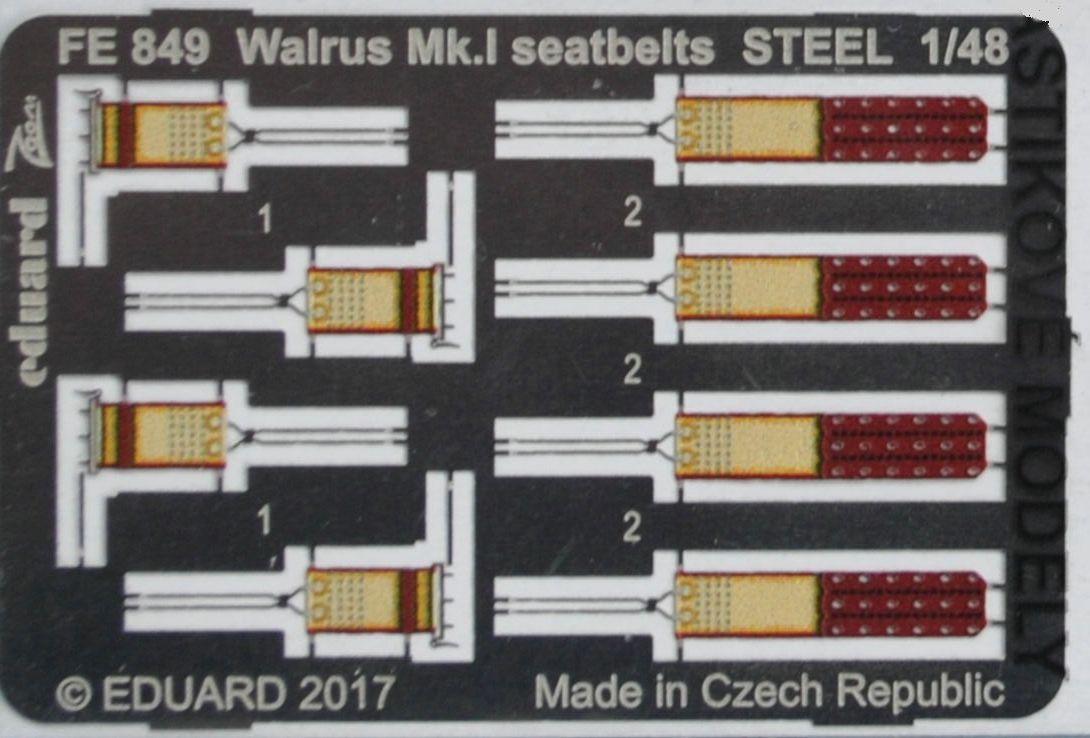 Eduard-FE-849-Walrus-Mk.-I-Seatbelts-1 Eduard-Zubehör für die neue 48er Walrus von Airfix