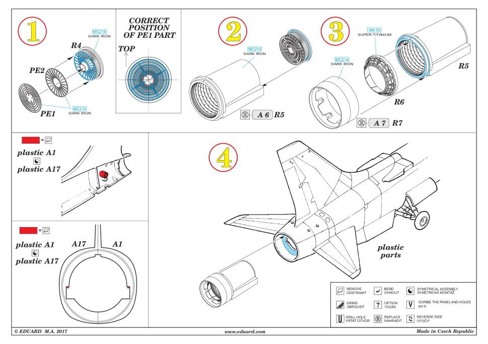 Eduard_Crusader_Noozle_02 Zubehör für die F-8 Crusader von Eduard 1/48