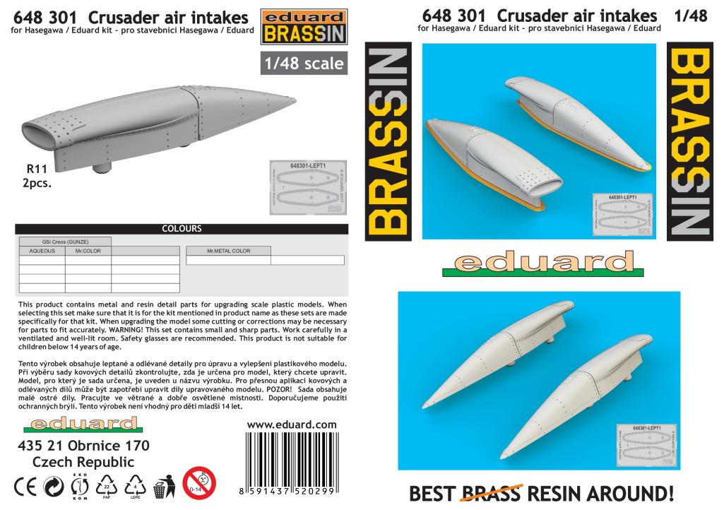 Eduard_Crusader_intakes_08 Zubehör für die F-8 Crusader von Eduard 1/48