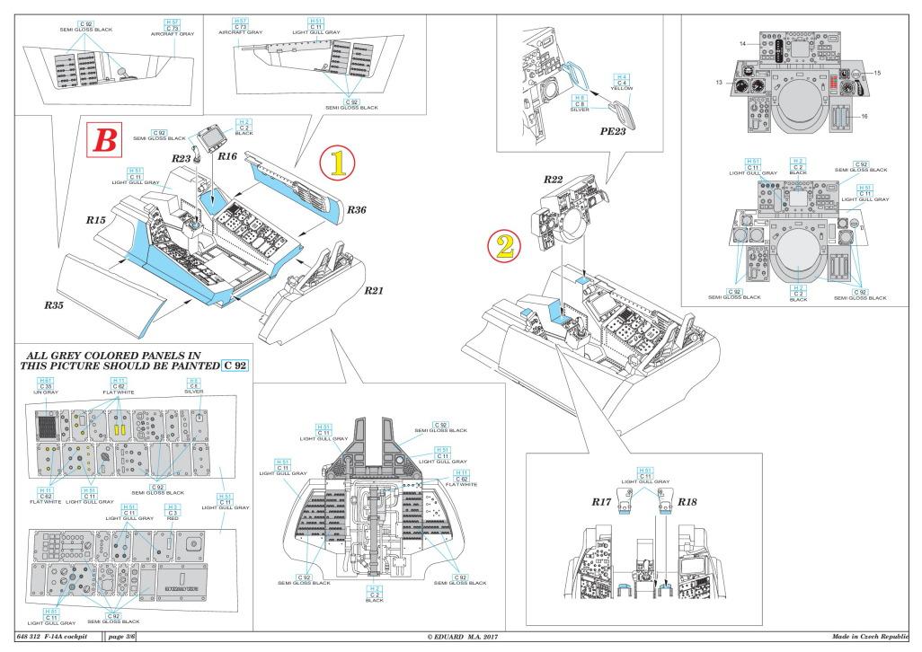 Eduard_F-14A_Cockpit_TAM_25 Cockpit Set für die F-14A von Tamiya - Eduard BRASSIN 1/48  ---  #648 312