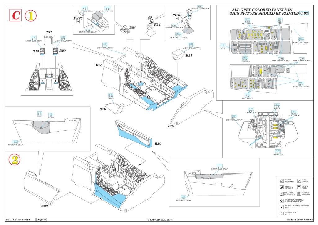Eduard_F-14A_Cockpit_TAM_26 Cockpit Set für die F-14A von Tamiya - Eduard BRASSIN 1/48  ---  #648 312