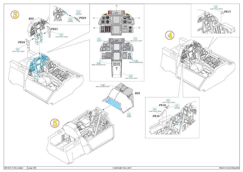 Eduard_F-14A_Cockpit_TAM_27 Cockpit Set für die F-14A von Tamiya - Eduard BRASSIN 1/48  ---  #648 312