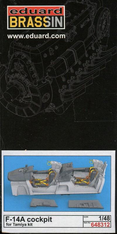 Eduard_F-14A_Cockpit_TAM_30 Cockpit Set für die F-14A von Tamiya - Eduard BRASSIN 1/48  ---  #648 312