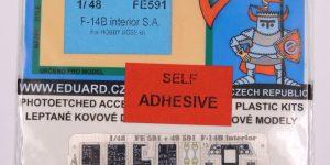 PE-Set für die F-14B von Hobby Boss – Eduard ZOOM 1/48  —  FE591