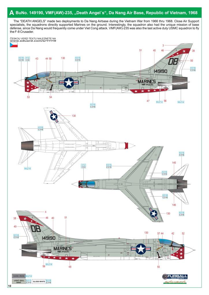 Eduard_F-8_Crusader_53 F-8 Crusader - Eduard Limited Edition 1/48  ---  #11110