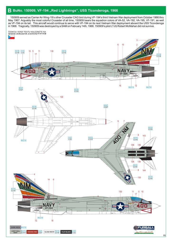 Eduard_F-8_Crusader_54 F-8 Crusader - Eduard Limited Edition 1/48  ---  #11110