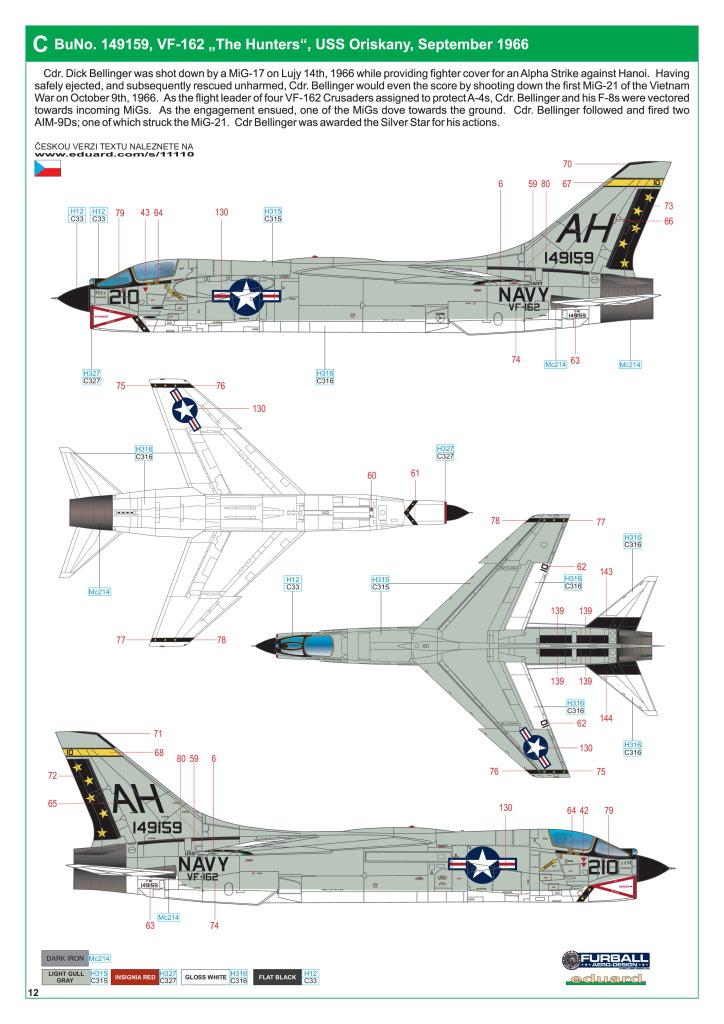 Eduard_F-8_Crusader_55 F-8 Crusader - Eduard Limited Edition 1/48  ---  #11110