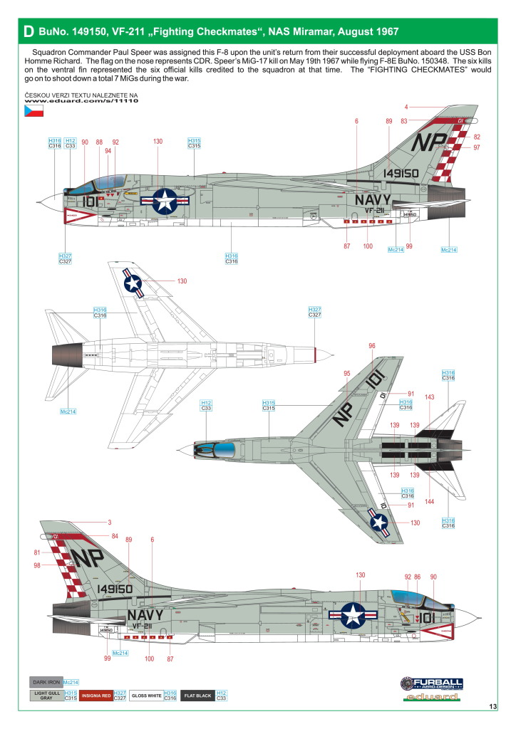 Eduard_F-8_Crusader_56 F-8 Crusader - Eduard Limited Edition 1/48  ---  #11110