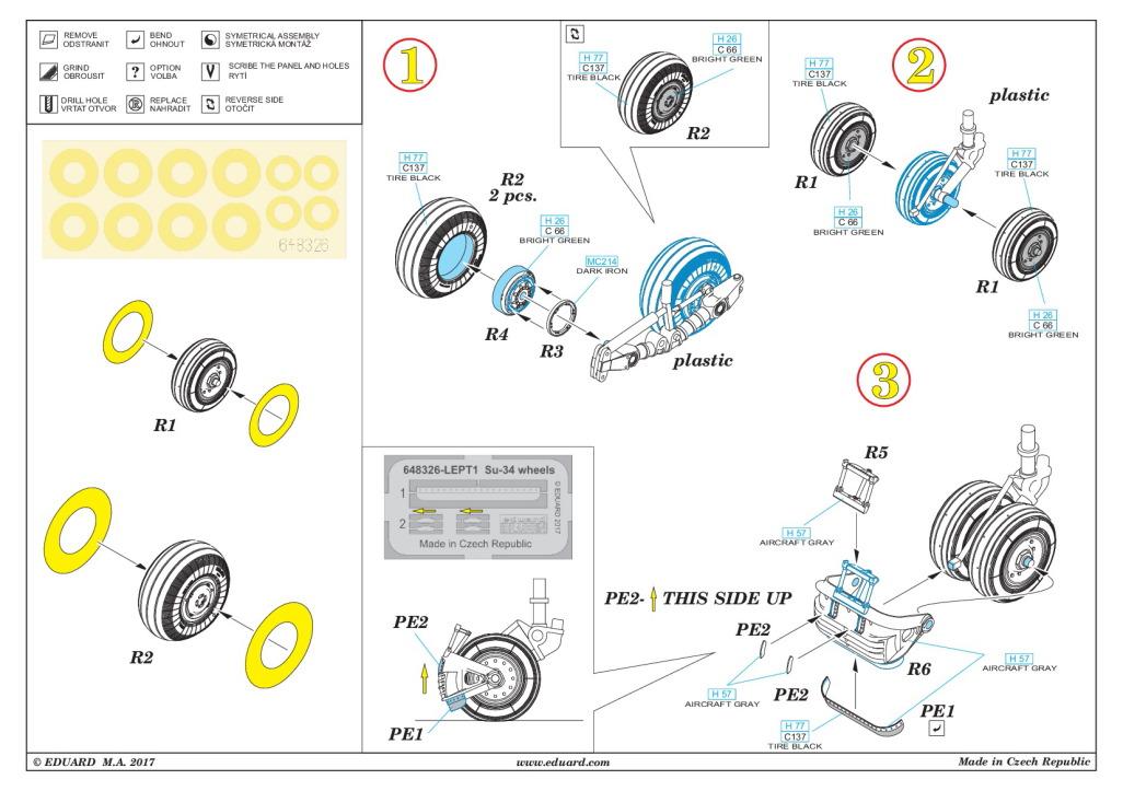 Eduard_Su-34_Wheels_11 Su-34 Wheels - Eduard BRASSIN 1/48  ---  #648326