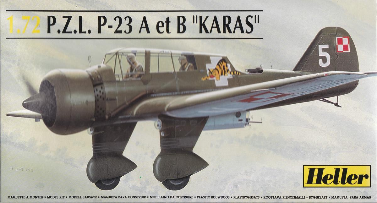 Heller-80247-PZL-P.23-Karas-24 Kit-Archäologie: PZL P.23 Karas A und B von Heller ( 1:72)