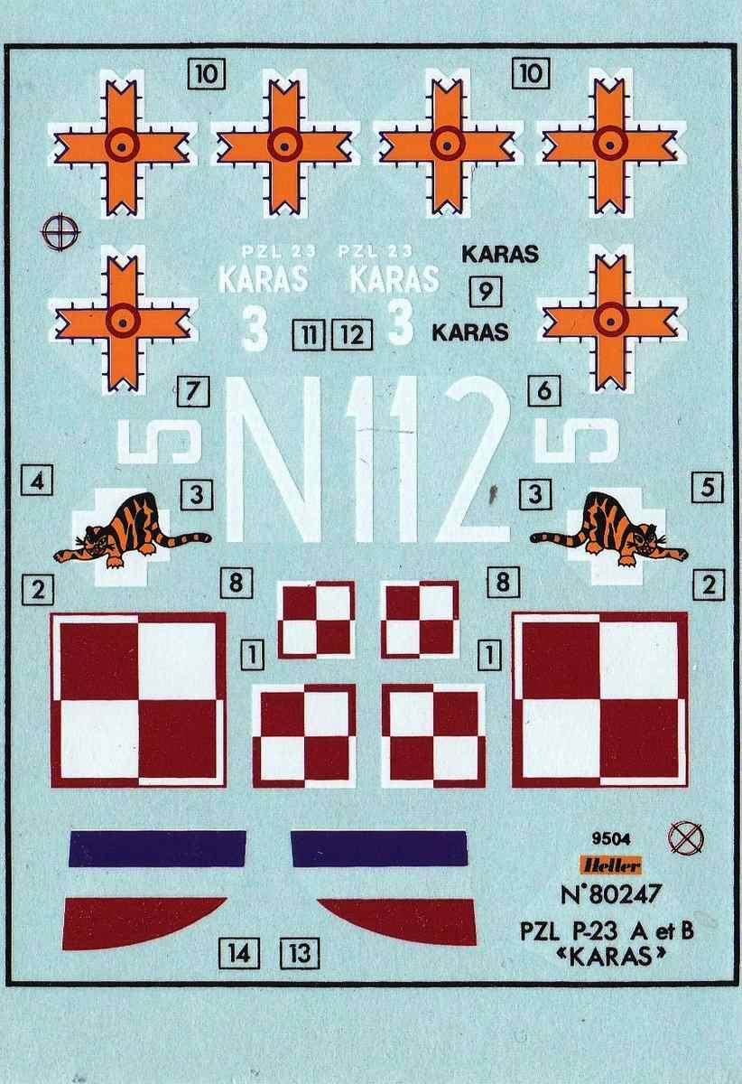 Heller-80247-PZL-P.23-Karas-25 Kit-Archäologie: PZL P.23 Karas A und B von Heller ( 1:72)