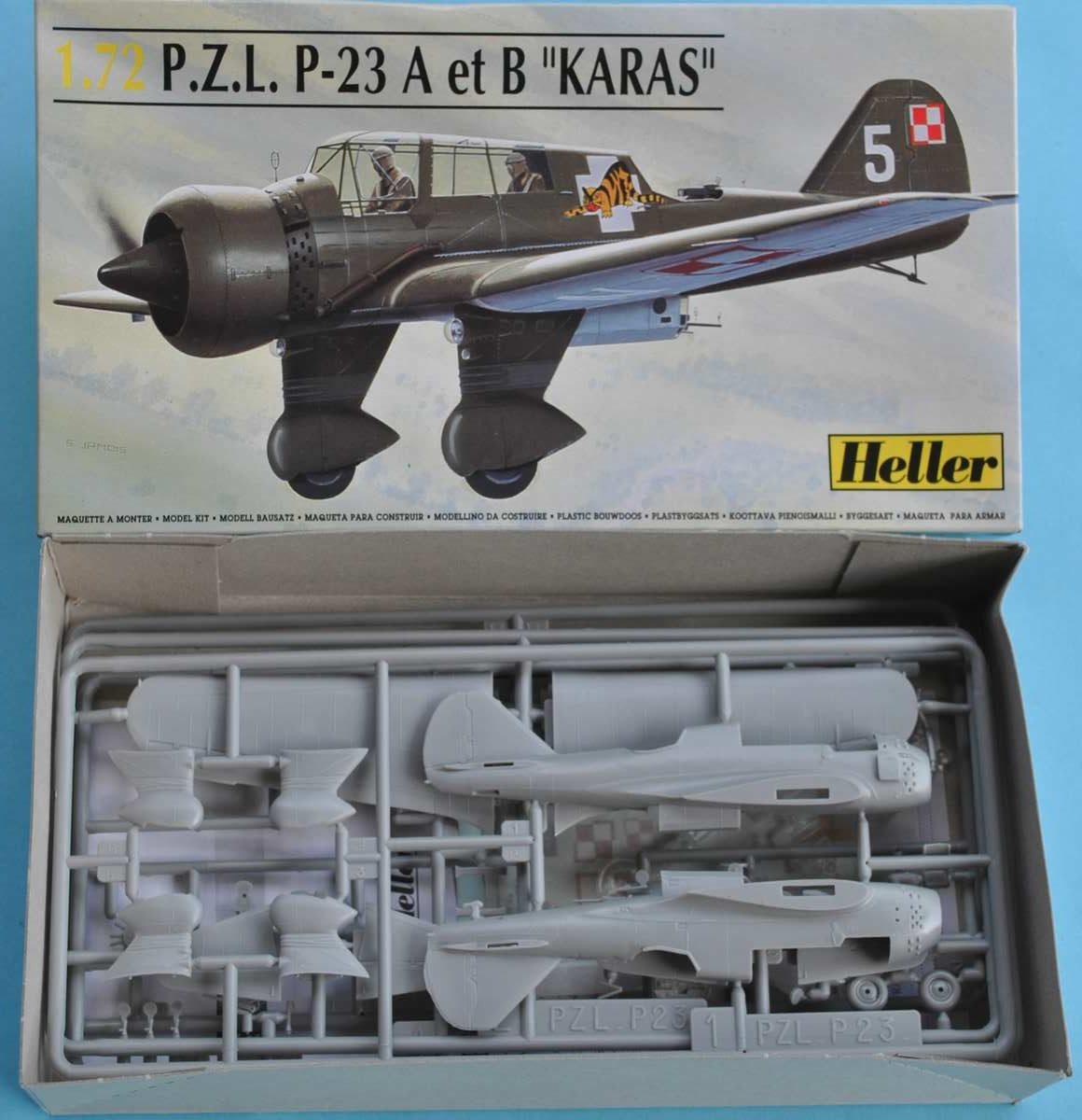 Heller-80247-PZL-P.23-Karas-29-e1504123747556 Kit-Archäologie: PZL P.23 Karas A und B von Heller ( 1:72)