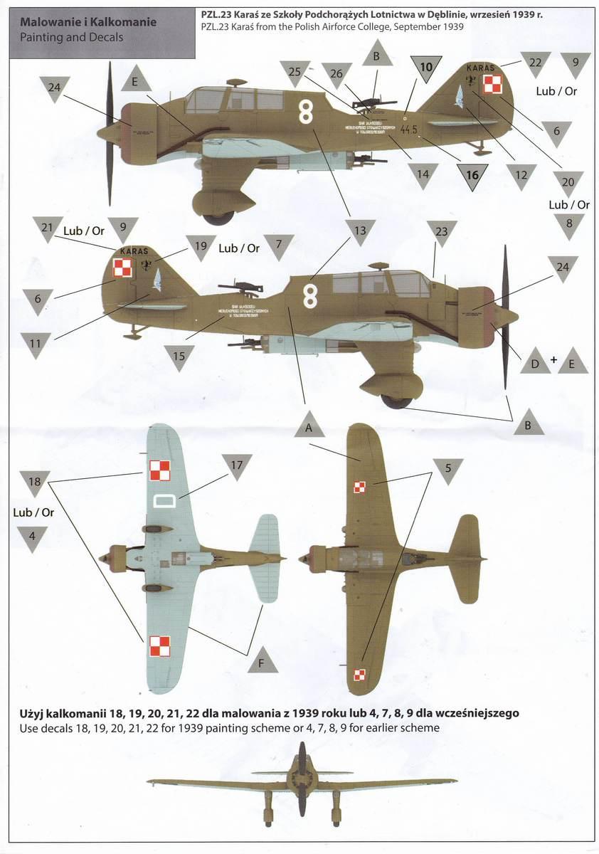 IBG-72505-PZL-P-23A-Karas-36 PZL P.23 Karas im Maßstab 1:72 von IBG # 72505