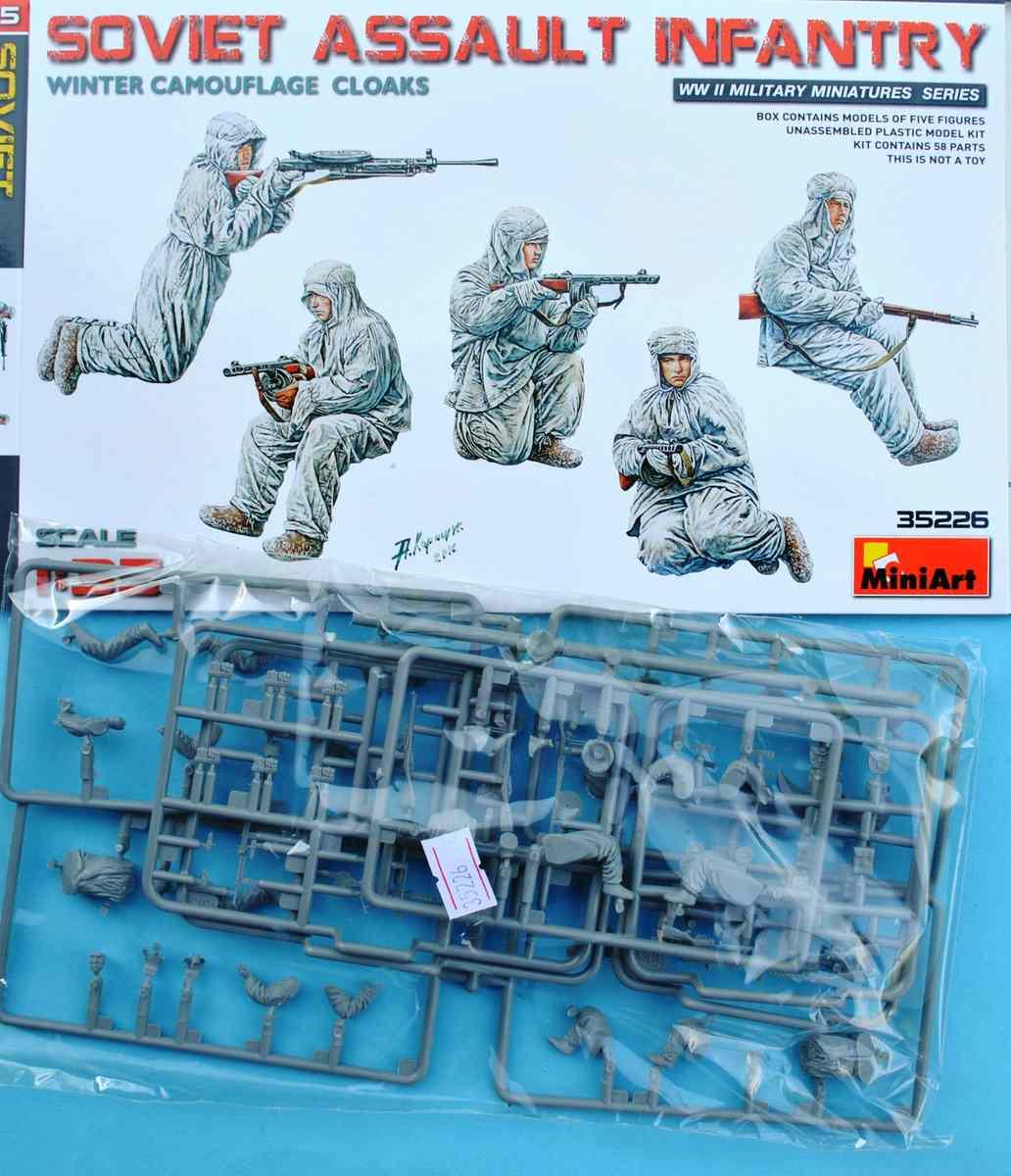 MiniArt-35226-Soviet-Assault-Infantry-Winter-Camouflage-1 Soviet Assault Infantry Winter Camo Cloaks in 1:35 von MiniArt 35226