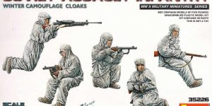 Soviet Assault Infantry Winter Camo Cloaks in 1:35 von MiniArt 35226