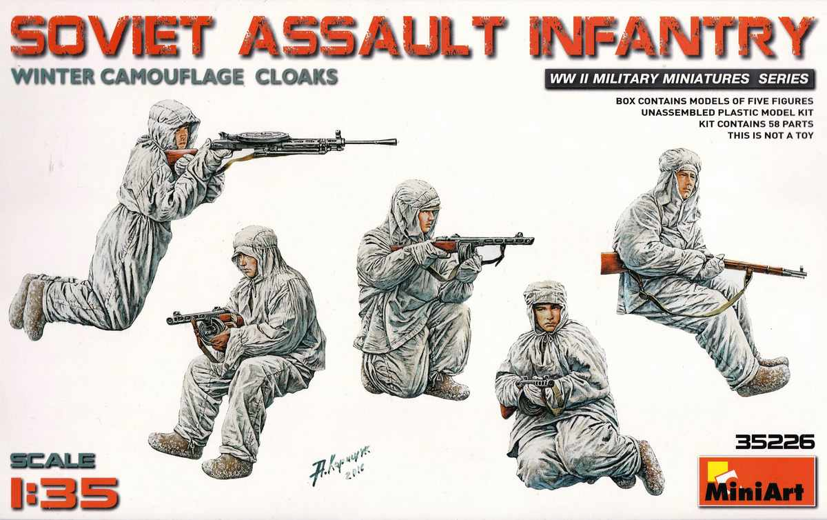 MiniArt-35226-Soviet-Assault-Infantry-Winter-Camouflage-11 Soviet Assault Infantry Winter Camo Cloaks in 1:35 von MiniArt 35226