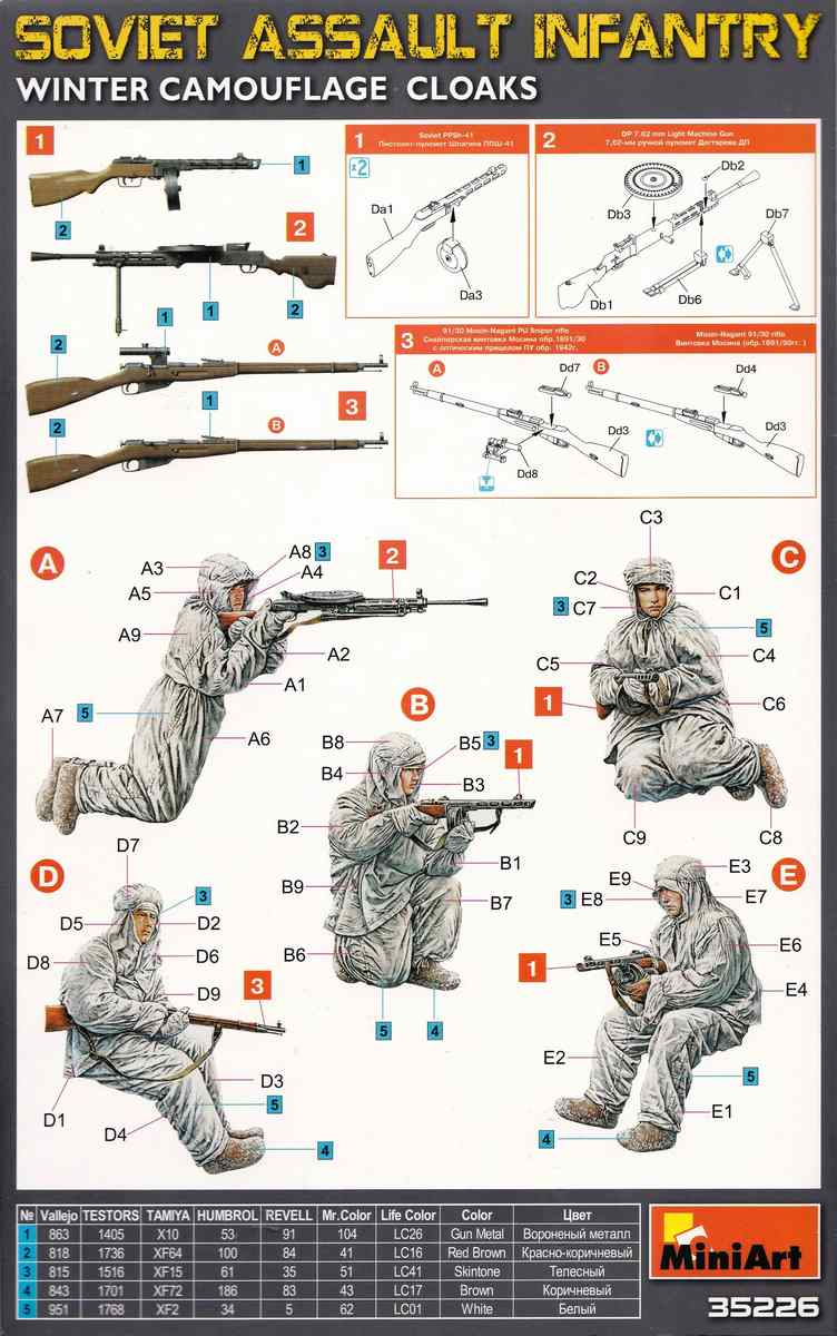 MiniArt-35226-Soviet-Assault-Infantry-Winter-Camouflage-12 Soviet Assault Infantry Winter Camo Cloaks in 1:35 von MiniArt 35226