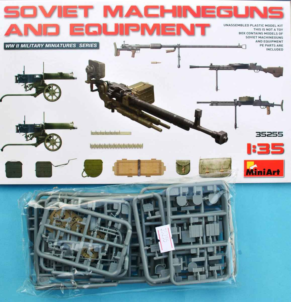 MiniArt-35255-Soviet-Machineguns-and-equipment-1 Soviet Machineguns and equipment von von MiniArt ( # 35255 )