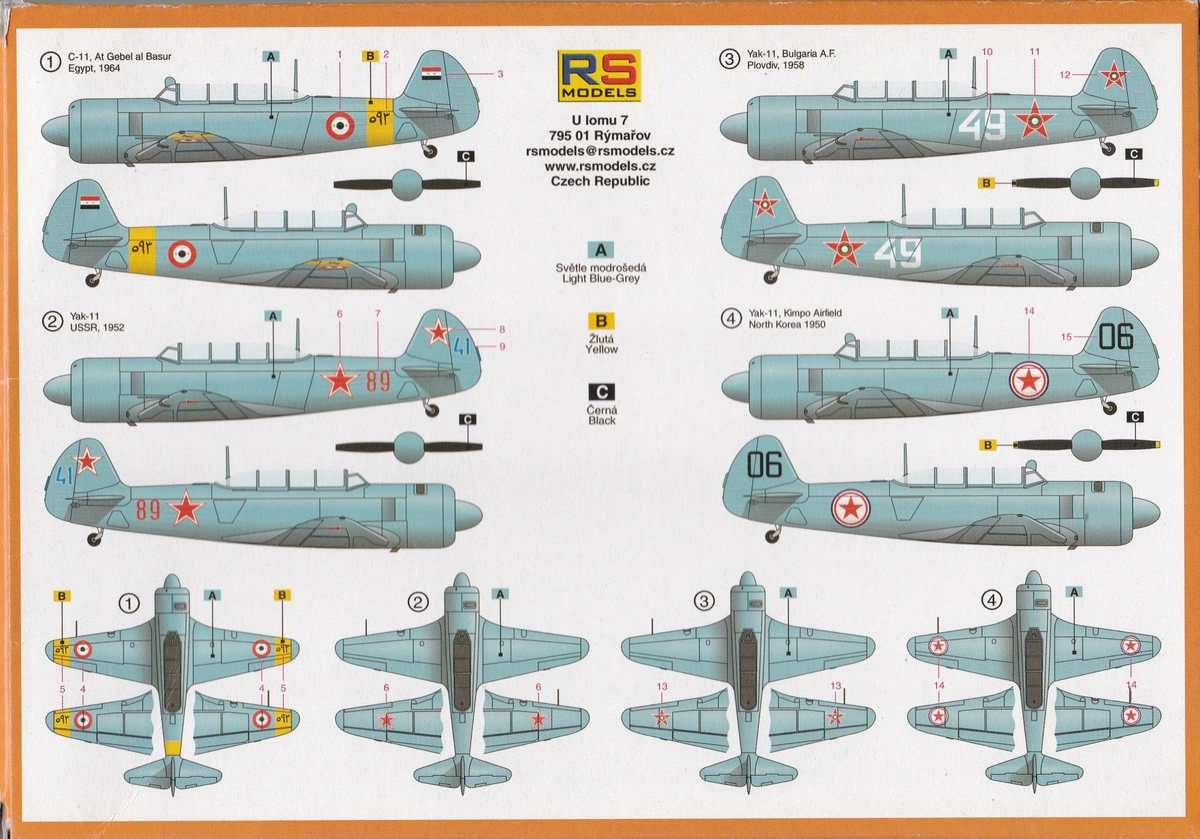 RS-Models-92169-Jak-11-24 Jak-11 / C-11 von RS Models in 1:72  (# 96169)