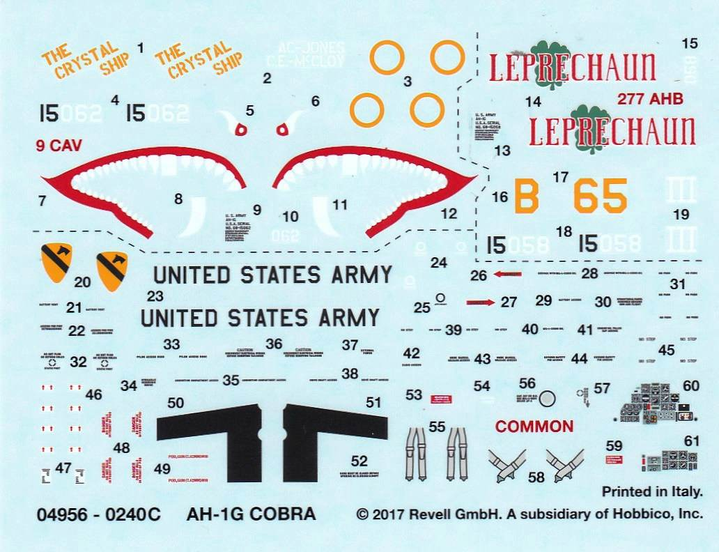 Revell-04956-Bell-AH-1G-Cobra-56 Bell AH-1G Cobra von Revell 1:72 ( # 04956 )
