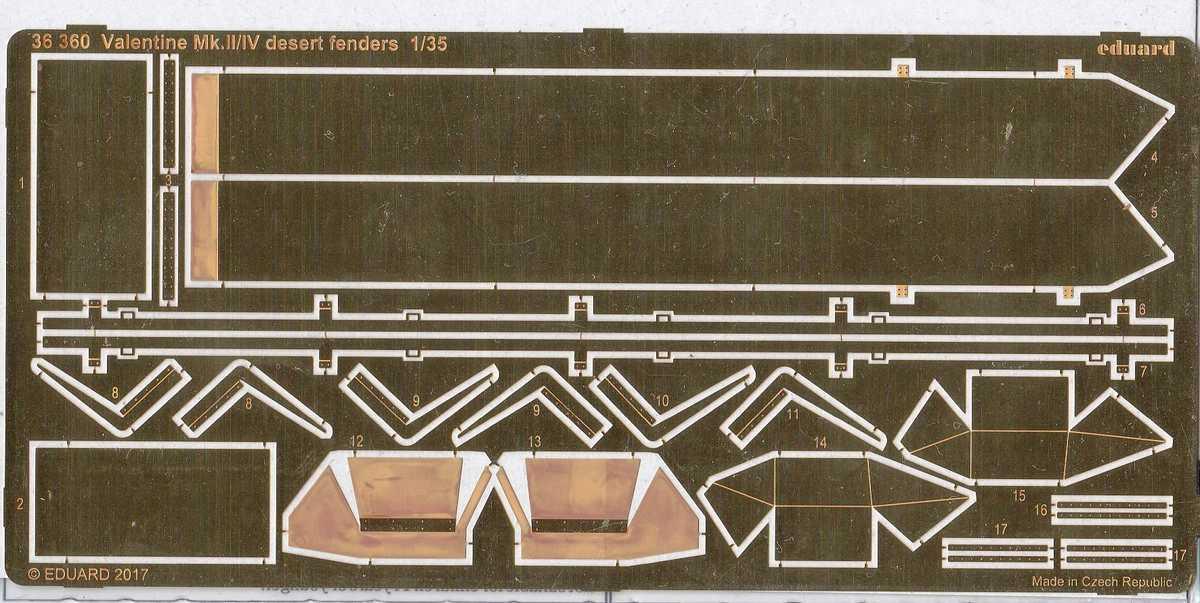 Eduard-36360-Valentine-Mk.II-IV-desert-fenders-1 Eduard Zubehör für den Valentine Mk. II / IV von Tamiya in 1:35