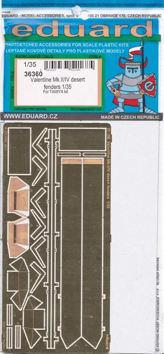 Eduard-36360-Valentine-Mk.II-IV-desert-fenders-2 Eduard Zubehör für den Valentine Mk. II / IV von Tamiya in 1:35