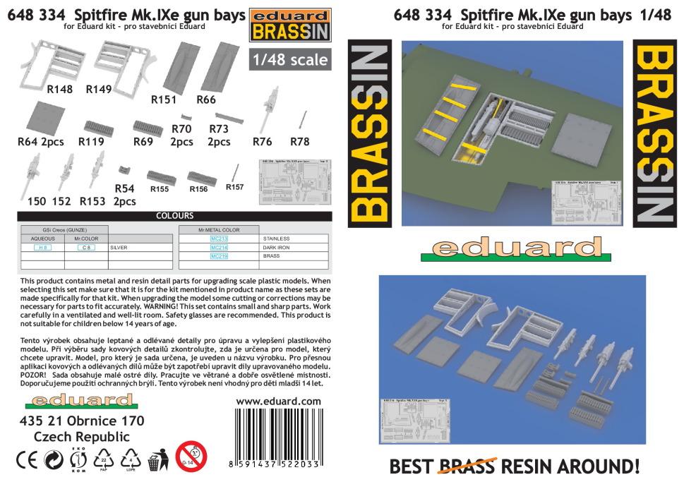 Eduard_Spit_IXe_Gun_Bay_14 Spitfire Mk.IXe gun bays - Eduard BRASSIN 1/48