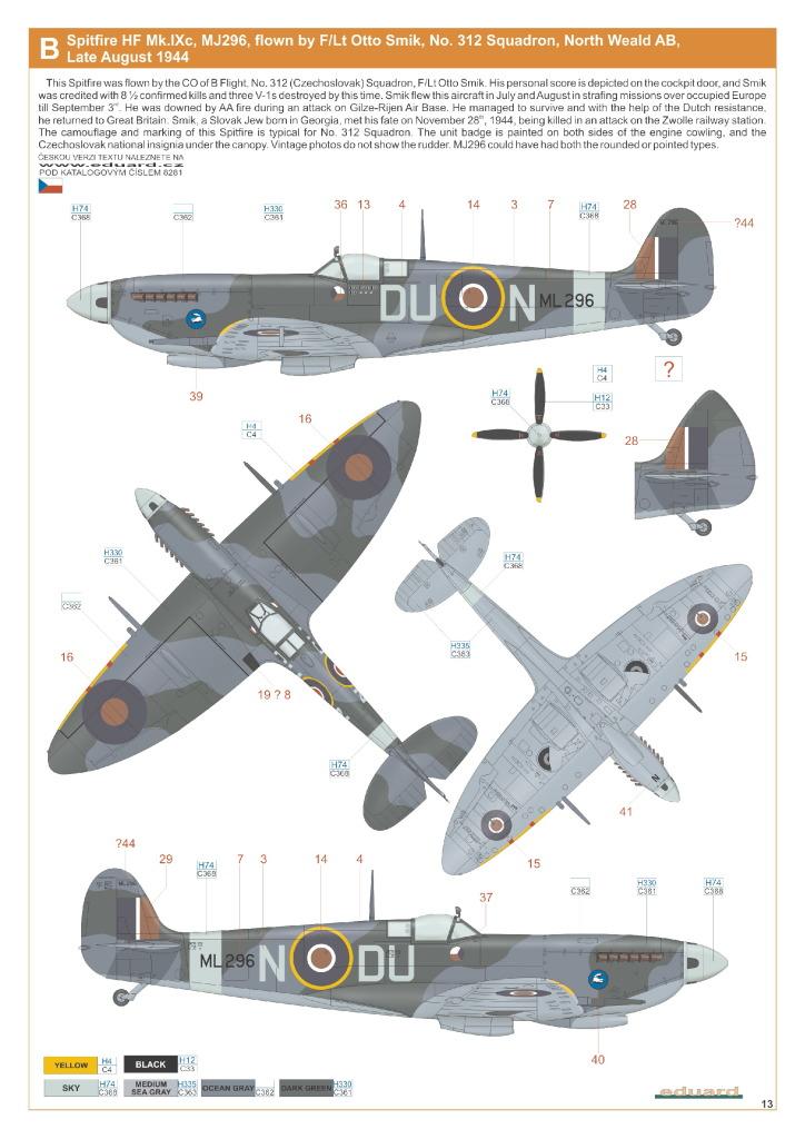 Eduard_Spit_IXe_Profi2017_36 Spitfire Mk.IXe - Eduard Profipack 1/48 (Re-Editon)