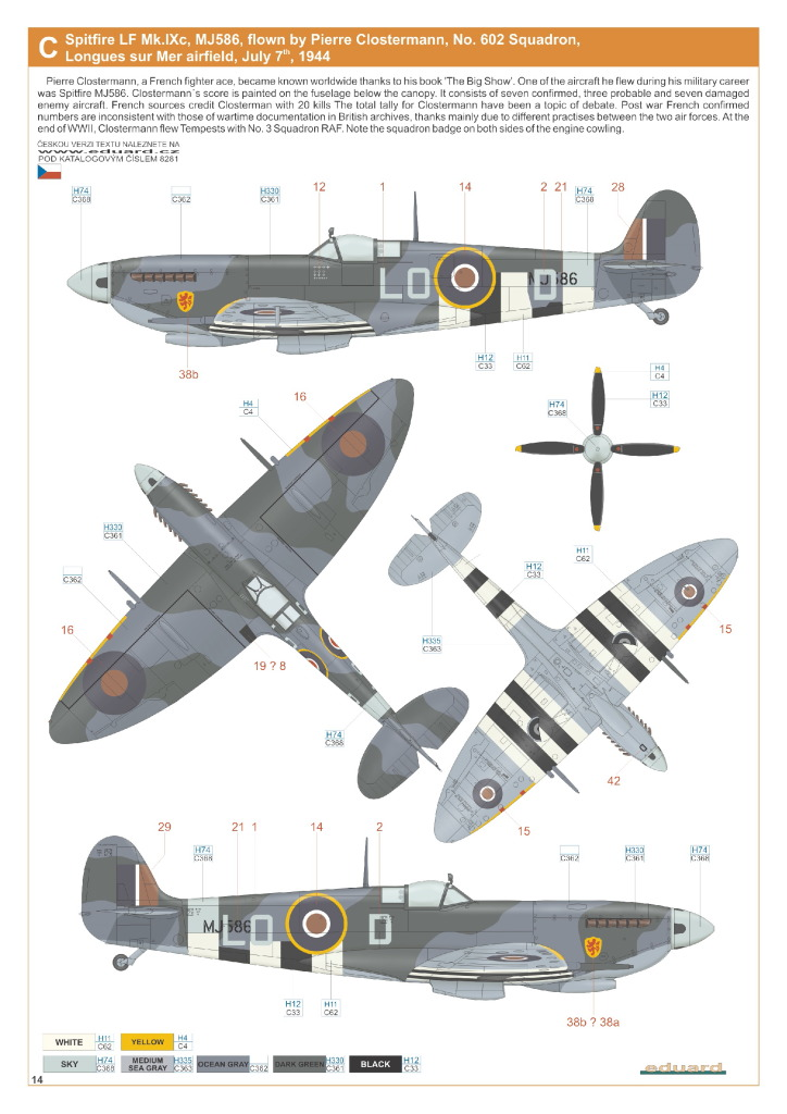 Eduard_Spit_IXe_Profi2017_37 Spitfire Mk.IXe - Eduard Profipack 1/48 (Re-Editon)