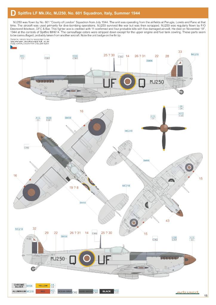 Eduard_Spit_IXe_Profi2017_38 Spitfire Mk.IXe - Eduard Profipack 1/48 (Re-Editon)