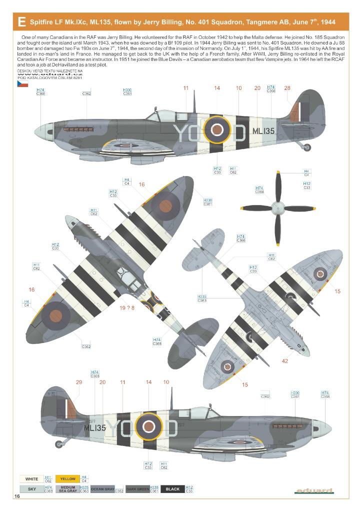 Eduard_Spit_IXe_Profi2017_39 Spitfire Mk.IXe - Eduard Profipack 1/48 (Re-Editon)