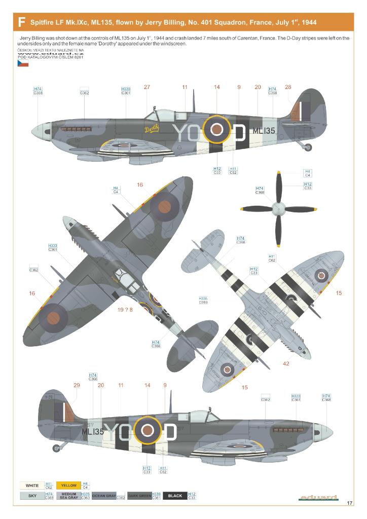 Eduard_Spit_IXe_Profi2017_40 Spitfire Mk.IXe - Eduard Profipack 1/48 (Re-Editon)