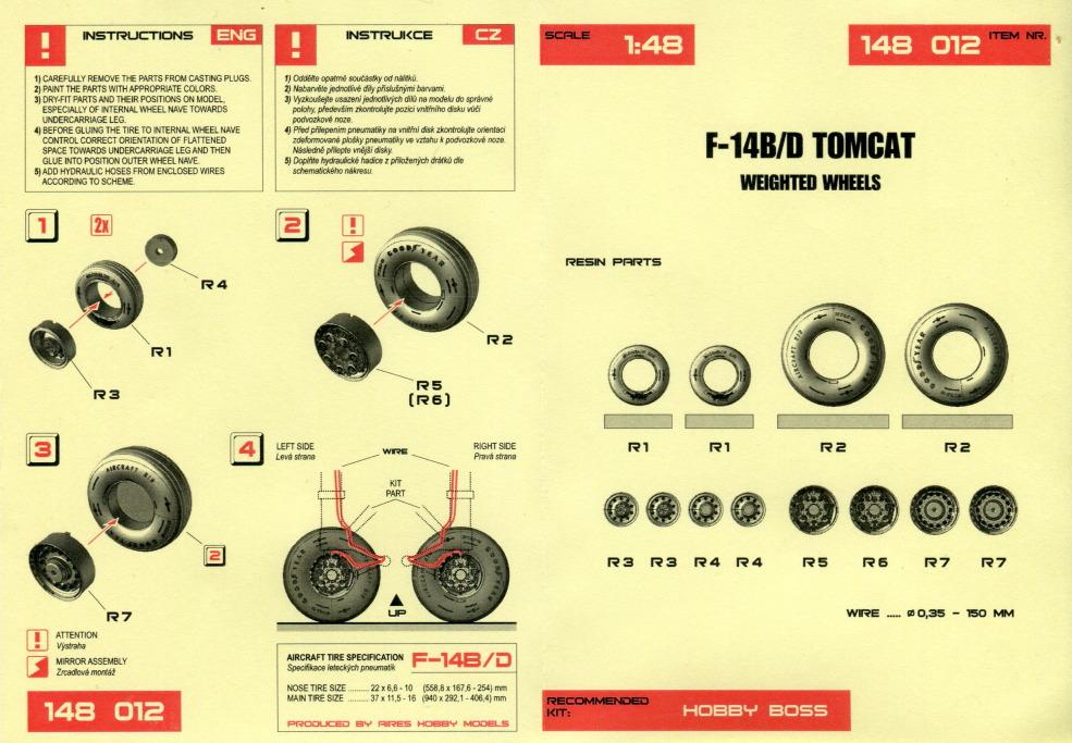 F-14A_Wheels_Wheeliant_06 F-14B/D Tomcat - Weighted wheels - Wheelliant 1/48