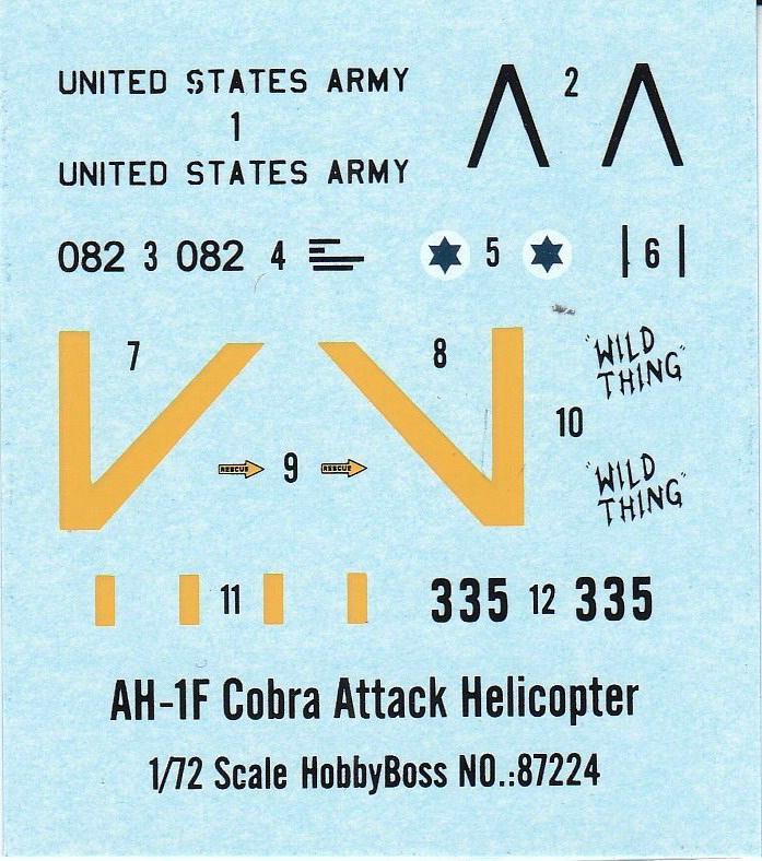 HobbyBoss-87224-AH-1F-Cobra-12 AH-1F Cobra von HobbyBoss in 1:72 ( 87224 )