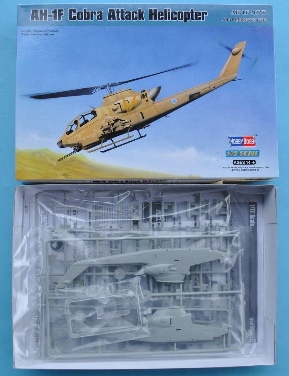 HobbyBoss-87224-AH-1F-Cobra-13 AH-1F Cobra von HobbyBoss in 1:72 ( 87224 )