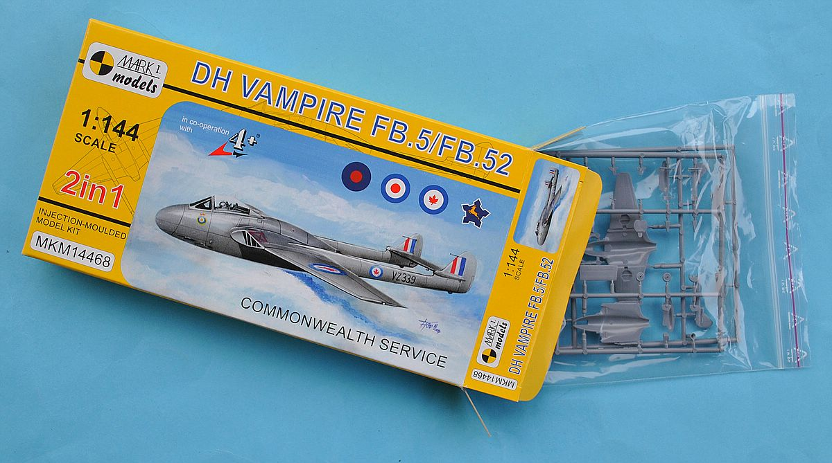 MKM-14468-Vampire-Commonwealth-service-22 deHavilland Vampire in Commonwealth Service (Mark One 1:144)