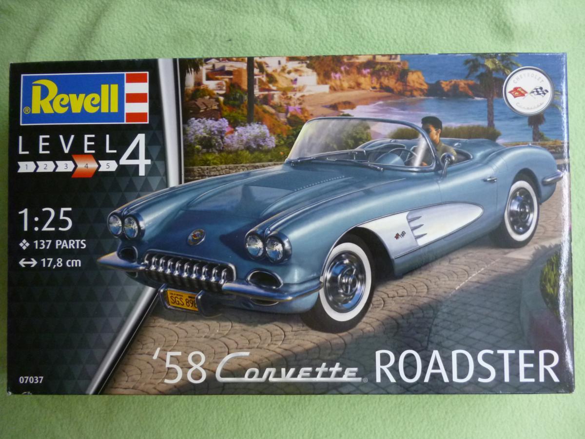 Revell-07037-58-Corvette-Roadster-01 `58 Corvette Roadster im Maßstab 1:25 von Revell (# 07037 )