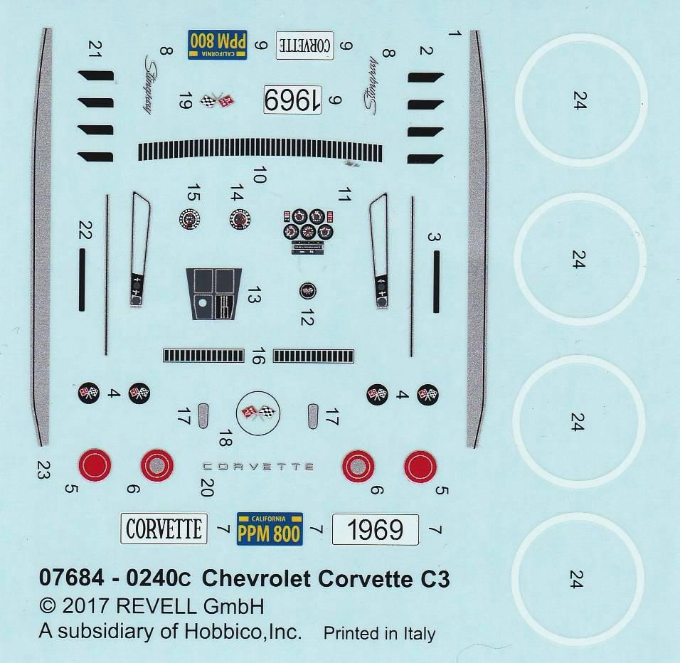 Revell-07684-Corvette-C3-1zu32-14 Corvette C3 im Maßstab 1:32 von Revell ( # 07684)