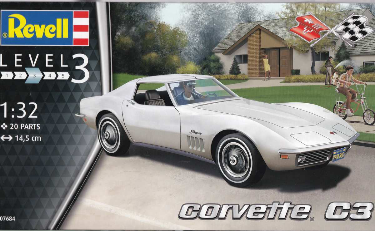 Revell-07684-Corvette-C3-1zu32-15 Corvette C3 im Maßstab 1:32 von Revell ( # 07684)