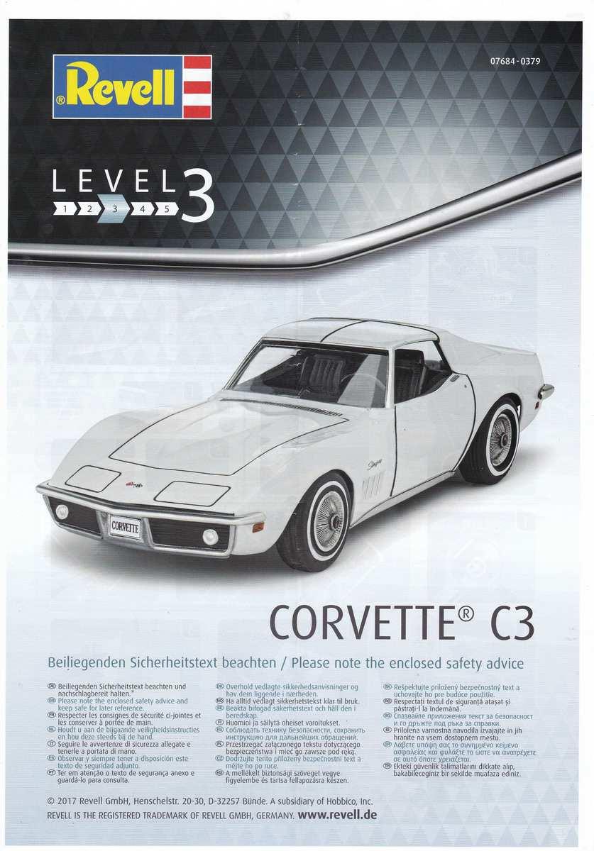 Revell-07684-Corvette-C3-1zu32-17 Corvette C3 im Maßstab 1:32 von Revell ( # 07684)