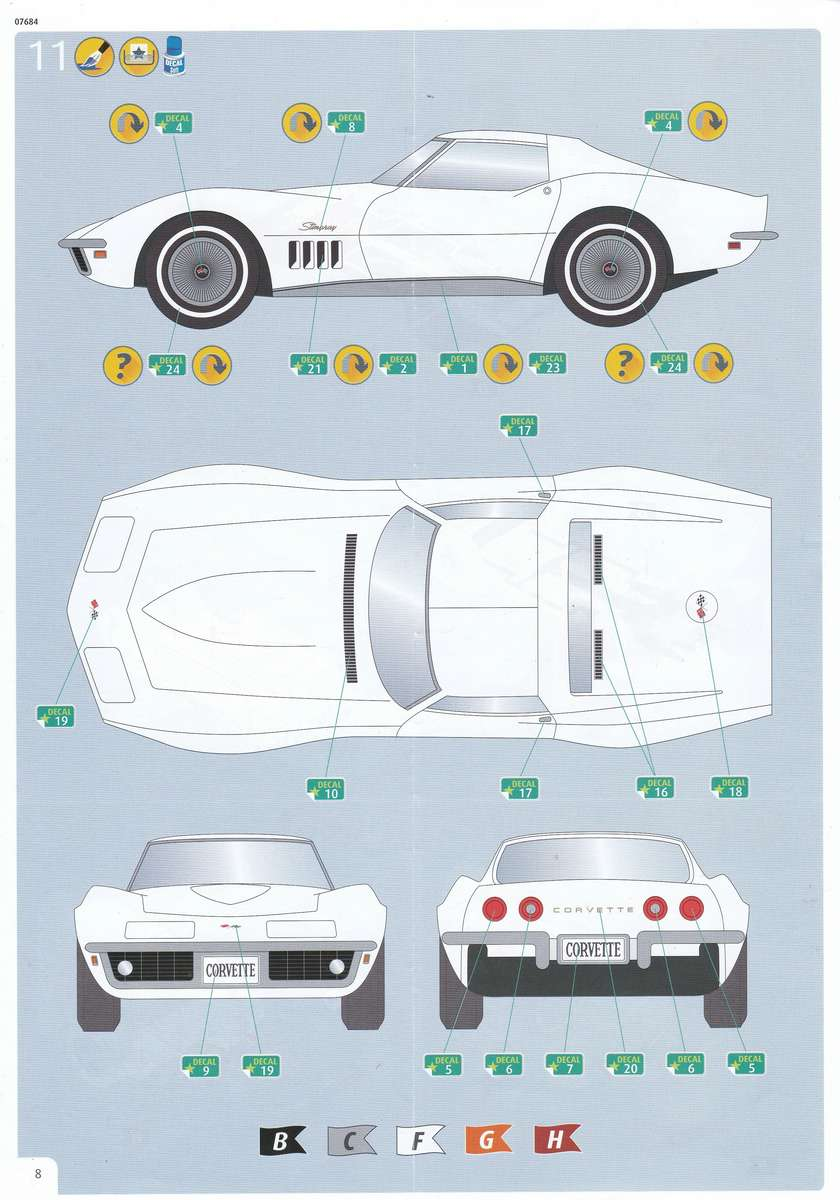 Revell-07684-Corvette-C3-1zu32-18 Corvette C3 im Maßstab 1:32 von Revell ( # 07684)