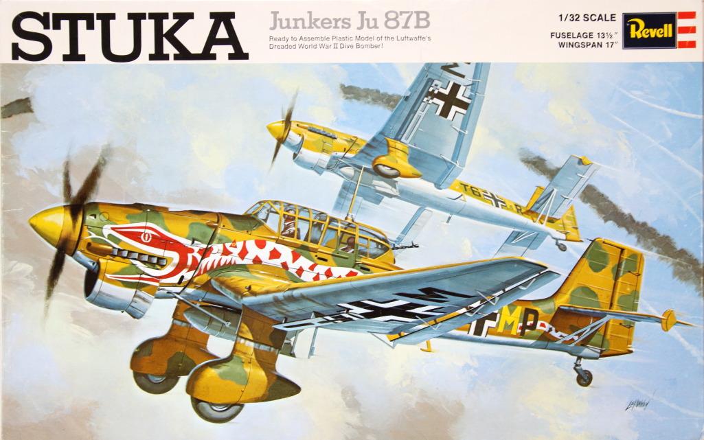 Revell_Stuka_01 Kit-Archäologie: Die Stuka Junkers Ju-87B von Revell - 1/32 - 1969